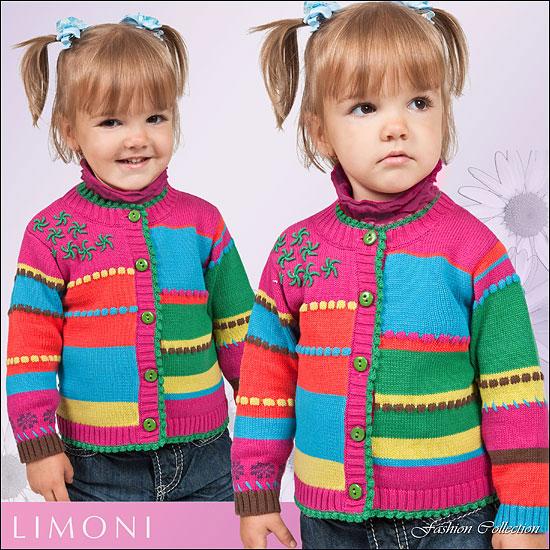 Многоцветное вязание спицами для детей 40